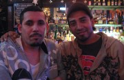 Osraldo Juarez and Geraldo Sanchez, regulars at Esta Noche, after hearing news of Mexico City's legalization of gay marriage.