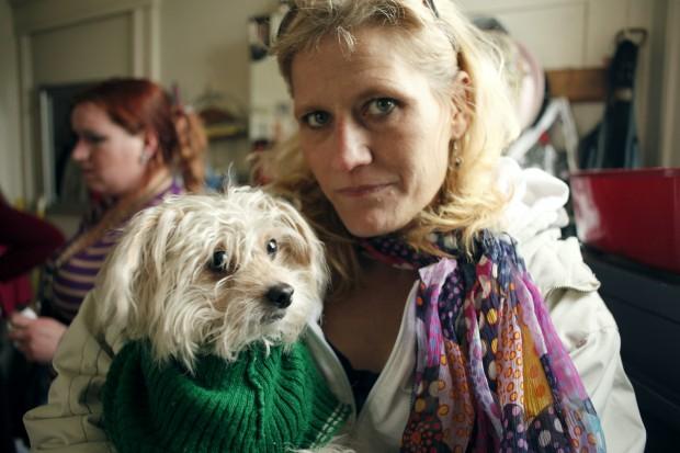 Bobbi Hagen and her dog, Dancer. (Photos by Vanessa Carr)