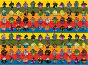 Cupcake wrapping paper by Creativity Explored artists