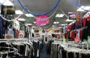 Inside the empty Fashion Emporium on Mission Street. The owner said that if business doesn't pick up he might close next year.