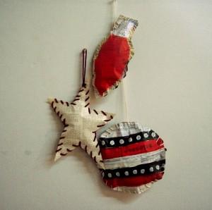 Handmade ornaments by Ehren Reed