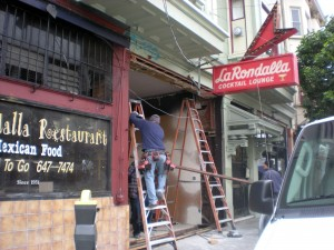Construction has begun at La Rondalla Restaurat at 901 Valencia St.