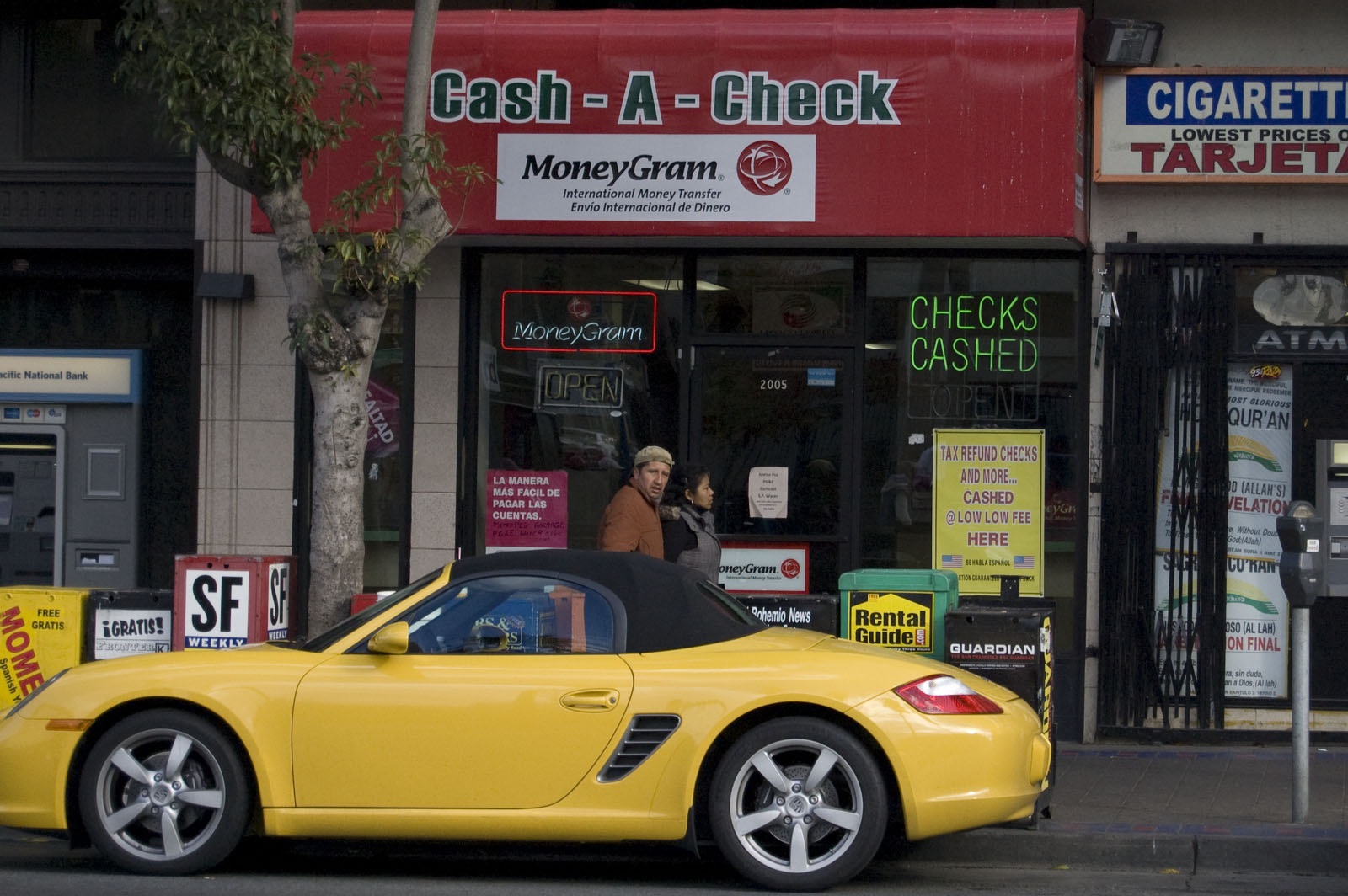 Suresh Jandial owns several payday loan stores in the Mission, including this one on Mission Street