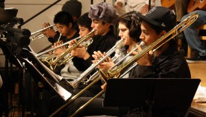 Members of the Mission District Young Musicians Program rehearse for La Posarela.