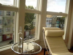 View of Valencia Street from one of the flats at 1495 Valencia St.