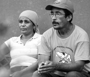 Ramón Virigay, and his wife, Luz Marina Tapia, The Ezequiel Zamora National Campesino Front. Photo by Michael Fox.