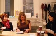 Elizabeth Lass, Vanessa Gade, and Estrella Tadeo, three of The Mission Statement's designers