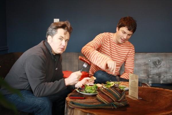 Joe Russel and Matt McGraw enjoying their lunch