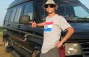 Dan Hoyle and his van.