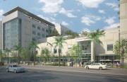 Plan for UCSF Hospital, as viewed from Third Street. Rendering by Anshen & Allen.