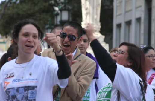 On the Bus to America: Day 4: The Chant Picks Up in Washington: 'Sí, Se Puede!'