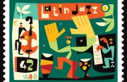 #1969 latin jazz stamp step by step2-all wo type or bkgrnd