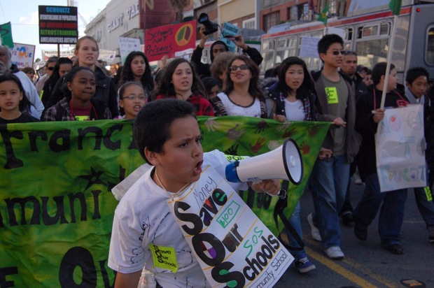 Mission Students, Teachers March for Public Education