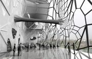 Building designed for verticle salt deposit growth. Rendering by Thom Faulders/Faulders Studio