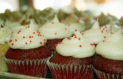 Red velvet cupcakes at Mission Minis.