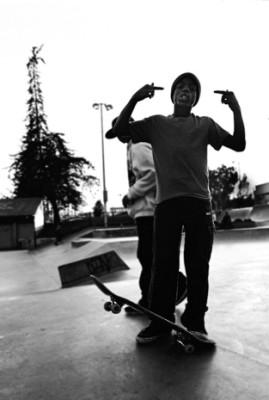 Little D at the skatepark.