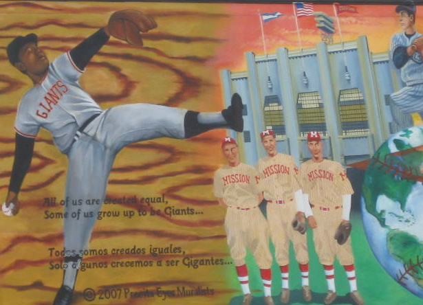 Detail from Vamos Gigantes mural by Precita Eyes 19th and Lex