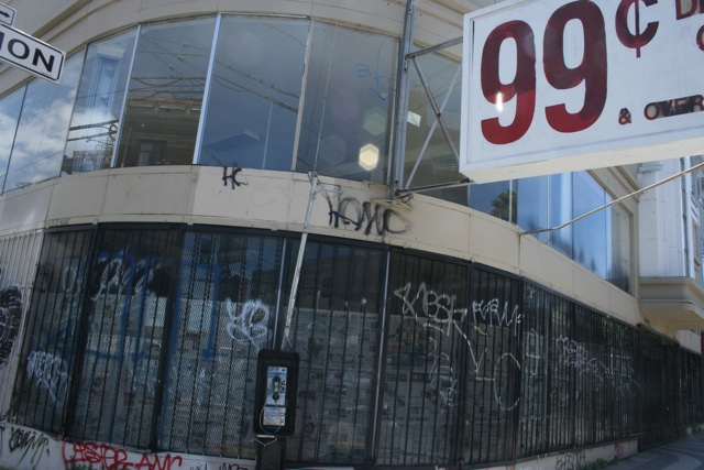 The building that used to house 99 Cent Depot, at 2205 Mission Street.