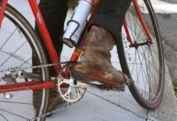 Mosquito abatement courier's footwear.