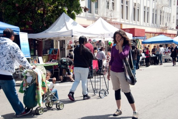 Merchants and non-profits participated.
