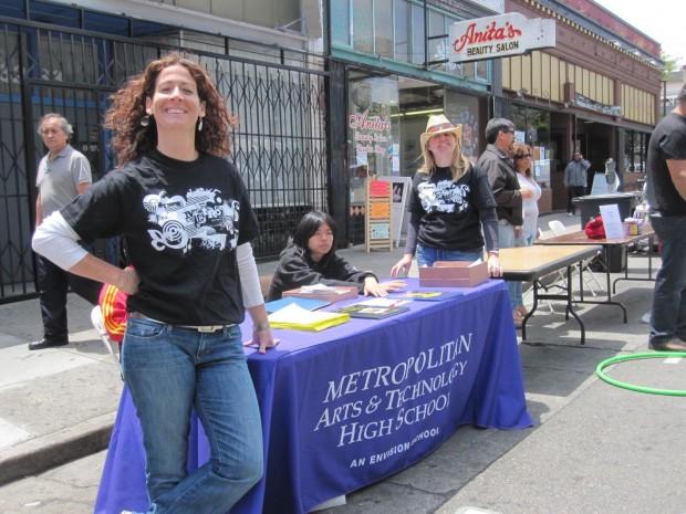 Abby Benedetto a Metro teacher at Saturday's market.