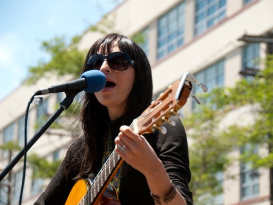 The pedal power worked and Diana Gameros and others entertained a steady crowd from 11 a.m. to 3 p.m.