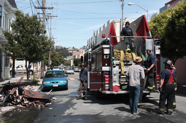 Incendio en las Calles 21 y Harrison