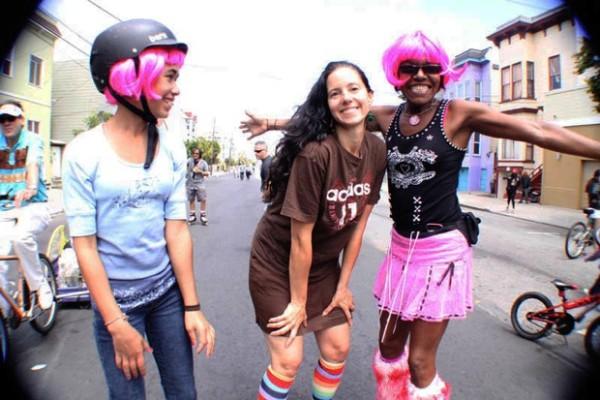 ...at dancers on roller skates.