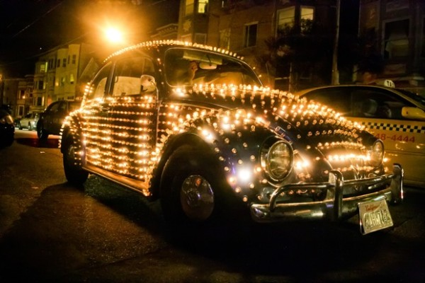 """The 25-year-old lightmobile. """"The alter ego of a shy person,"""" said Eric Staller, the creator."""