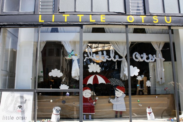 The art in the window is by Gemma Correll.