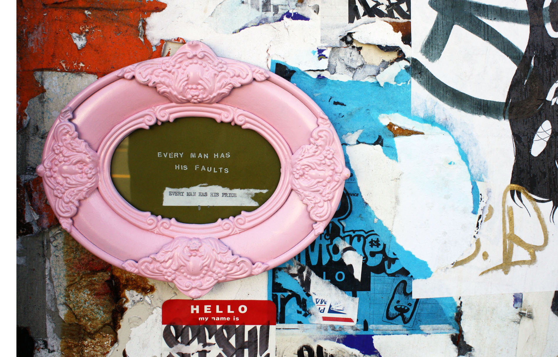 Summer Graffiti: Pink Picture Frames and Leather Daddies