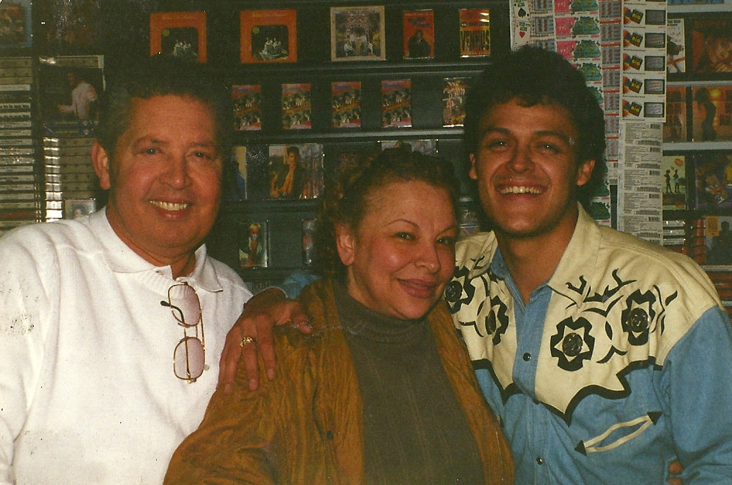 Silvia and her husband laughing with famous Mexican singer, Pedro Fernandez