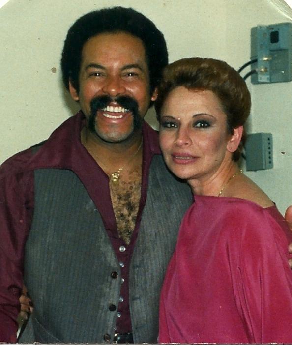Oscar D'Leon, Venezuelan salsa singer, posing with Silvia