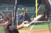 Andres Torres works on hitting