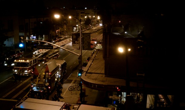Fire trucks outside of Booglaoos on Monday night. Credit: Natalie Ruiz Tofano