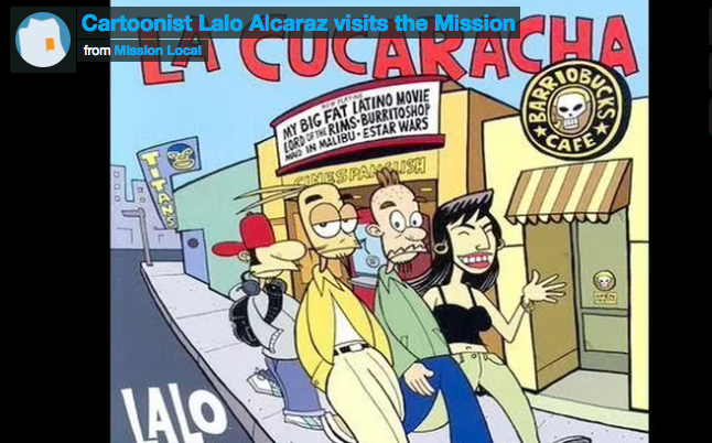 VIDEO: Cartoonist Lalo Alcaraz visits the Mission