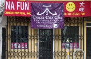 """Super China Fun Fast food was closed due to """"mouse droppings,"""" after a Feb. 16 inspection. The owners abated the violation by the next day. Now, a sign indicates a new restaurant will open soon."""