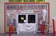 Discount Builder Supply gets mural makeover, Photo by Leo Germano