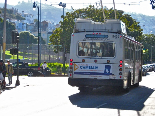 The San Francisco Municipal Transportation Agency listed environmentally friendly buses as one of their accomplishments, but their survey shows passengers want cleaner, on-time buses.