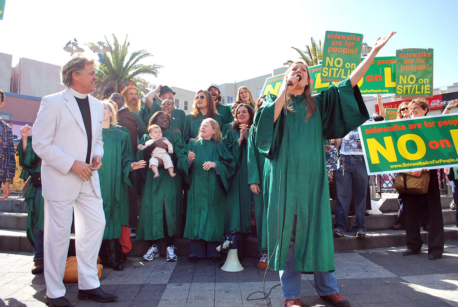 Gospel Choir Damns Sit/Lie Measure