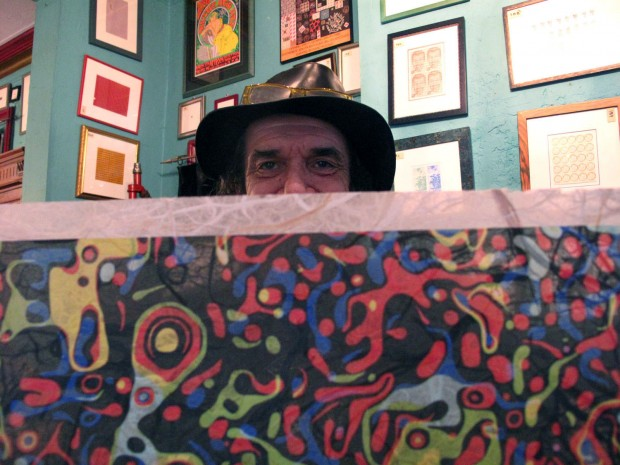 Mark McCloud revels in psychedelic visuals inside his Mission home, which he dubbs the