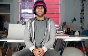 Amit Gupta sits in the Photojojo office, located on Valencia Street.