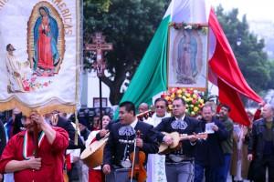 Procession for la Virgen de Guadalupe. Photo by Bridget Huber.
