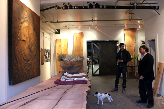 Art, Reclaimed Wood and Custom Furniture at 724 Valencia