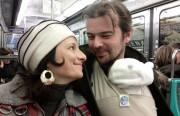 The Celebi-Ariners on the Parisian Metro. Courtesy of Murat Celebi-Ariner.
