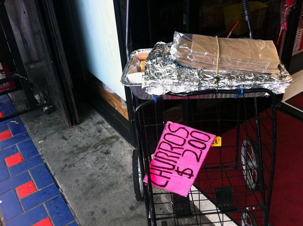 Chorros left unattended on Mission street.