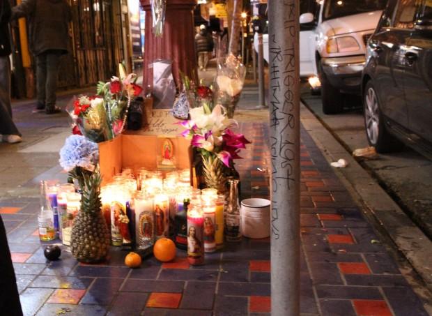 Memorial for Aldo, AKA Trigger. Photo by Octavio Lopez Raygoza
