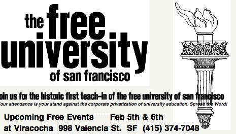 Free University on Valencia Street – Now!