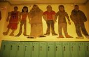 Artwork in the halls of Horace Mann. Photograph by Garrett McAuliffe