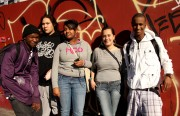 From left to right: Lavell, their friend Michael, Nait, Joceln, Fiki